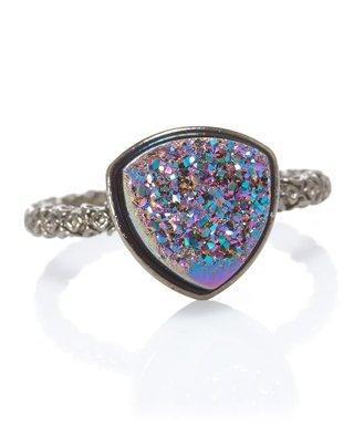 Ettinger UK Dara Nadia Triangular Disco Ball Ring (Stylist Pick & CUSP Most Loved!)