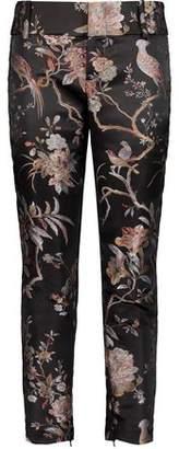 Alice + Olivia Alice+olivia Stacey Cropped Jacquard Slim-Leg Pants