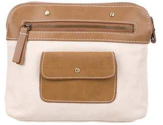 Chloé Leather Canvas Cosmetic Pouch
