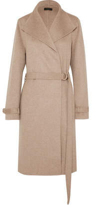 Joseph Lima Belted Wool And Cashmere-blend Coat - Beige