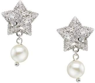 Miu Miu crystal star earrings