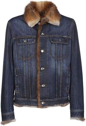 Dolce & Gabbana Fur Denim Jacket