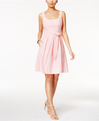 Nine West Belted Fit & Flare Dress $79 thestylecure.com