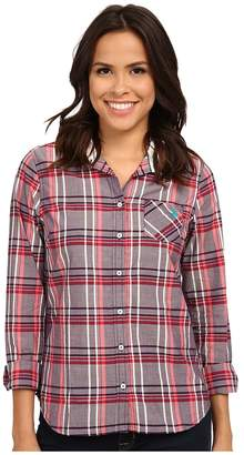 U.S. Polo Assn. Plaid Poplin Casual Shirt Women's Clothing