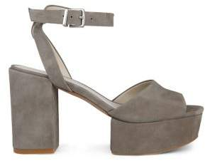 Kenneth Cole New York Pheonix Suede Ankle-Strap Platform Sandals