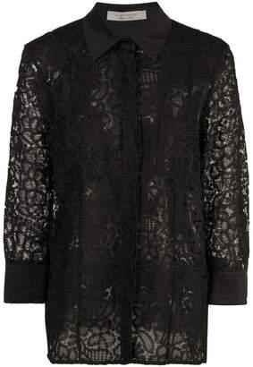 D-Exterior D.Exterior sheer lace jacket