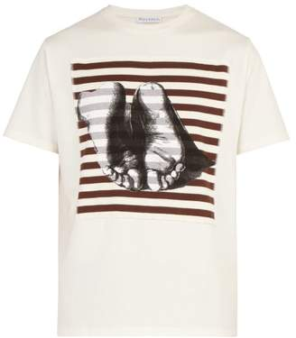 J.W.Anderson X Albrecht Durer Print Cotton T Shirt - Mens - Cream