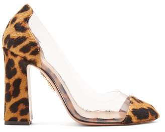 Aquazzura Optic 105 Leopard Print Pumps - Womens - Leopard
