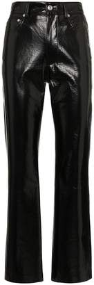 MSGM High Waisted Vinyl Trousers