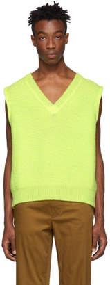 Acne Studios Yellow Keste V-Neck Sweater