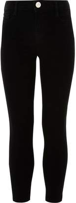 River Island Girls Black Alannah relaxed skinny jeans
