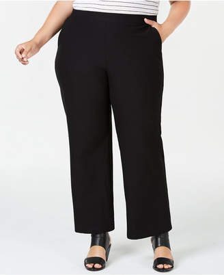 Eileen Fisher Plus Size Washable Crepe Straight-Leg Pants