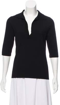 Narciso Rodriguez Short Sleeve Knit Top
