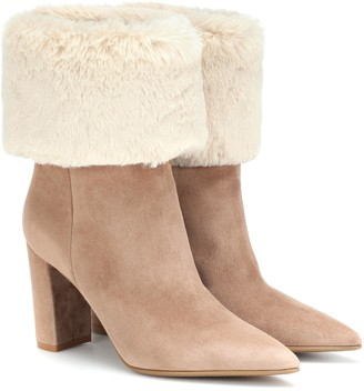 Gianvito Rossi Joanne suede ankle boots