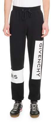 Givenchy Men's Large Logo Basic Felpa Jogger Pants