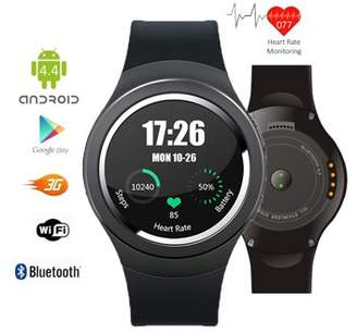 Indigi 2-in-1 GSM Unlocked Bluetooth Sync Android 4.4 Smart Wrist Watch 3G SmartPhone WiFi Heart-Rate Monitor Pedometer