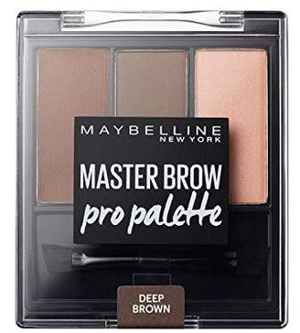 Maybelline Master Brow Pro Palette Kit Deep 3.4g (Pack of 6)