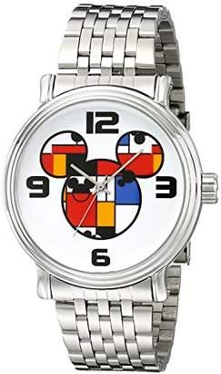 Disney Men's W001833 Mickey Mouse Analog Display Analog Quartz Silver Watch