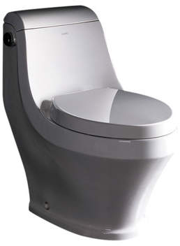 Ariel Bath Adonis Contemporary 1.6 GPF Elongated One-Piece Toilet