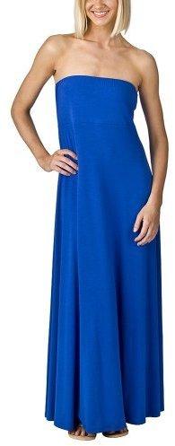 Mossimo® Black: Strapless Maxi Dress - Blue Blaze