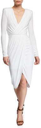 Bailey 44 Asymmetric-Jersey Midi Dress