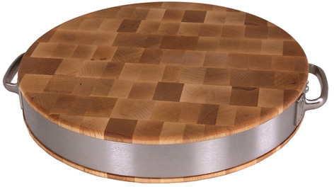 John Boos Maple Cutting Board With Stainless Steel Band