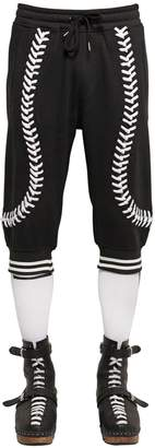 Kokon To Zai Baseball Seams Crop Cotton Jogging Pants