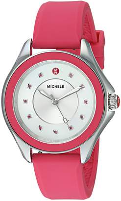Michele Women's 'Cape Topaz' Quartz Stainless Steel and Silicone Casual Watch, Color: (Model: MWW27A000022)