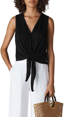 Whistles Front-Tie Tank Top