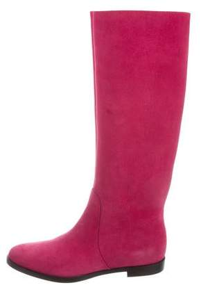 Sergio Rossi Suede Knee-High Boots w/ Tags