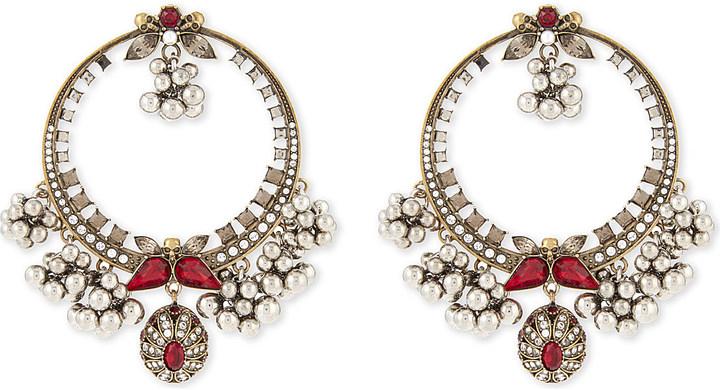 Alexander McQueenAlexander Mcqueen Creole swarovski hoop earrings