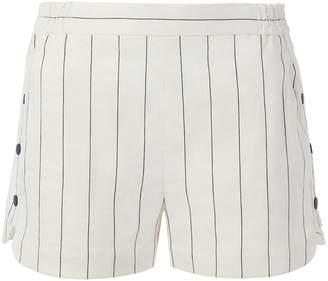Tibi Viscose Stripe Shorts