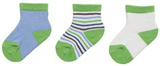 Playshoes Unisex Newborn Baby Socks, Pack Of 3 Pairs, 0-3 Months