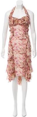 Zac Posen Silk Floral Print Midi Dress w/ Tags