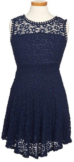 Kiddo 'Daisy' Lace Dress (Big Girls)