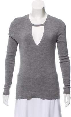 Barbara Bui Wool Notch Sweater