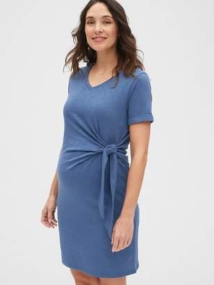 Gap Maternity Side-Tie V-Neck T-Shirt Dress