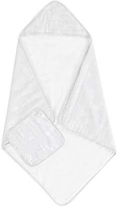 Pottery Barn Kids Rachel Ashwell Muslin Bubble Hooded Towel and Washcloth Set