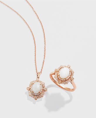 Effy Diamond (1/6 c.t. t.w.) and Opal (5/8 c.t. t.w.) Pendant in 14K Rose Gold
