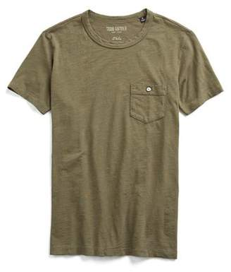 Todd Snyder Made in L.A. Garment Dyed Pocket T-Shirt in Olive