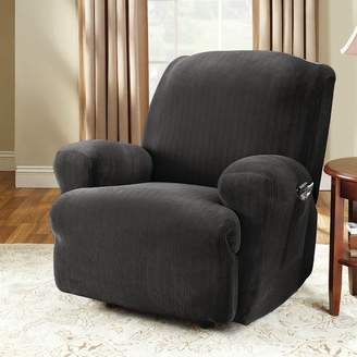 Sure Fit Stretch Pinstripe T-Cushion Recliner Slipcover
