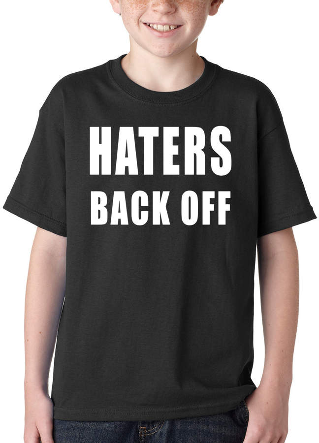 Etsy Kid's Haters Back Off T Shirt Printed Youth Haters Gonna Hate T-Shirt #1156 by Expression Tees Trend