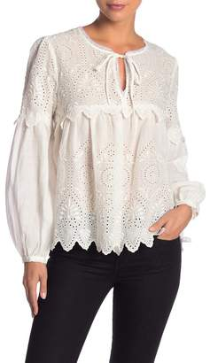987488406499b4 ... Johnny Was Eyelet Lace Long Sleeve Blouse