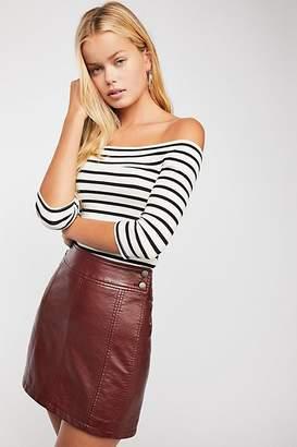 Retro Vegan Bodycon Mini Skirt