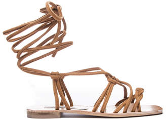 Show Me Your Mumu Tori Wrap Up Sandals ~ Camel