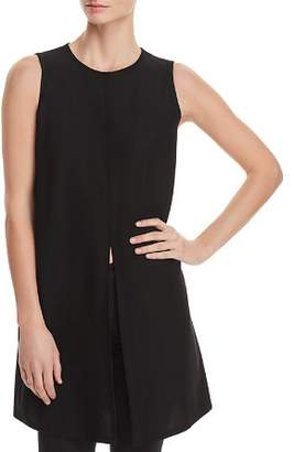 Eileen Fisher Sleeveless Split-Front Tunic Top