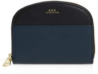 A.P.C. Porte Monnaie Colorblock Demilune Leather Wallet