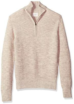 Billy Reid Men's Cashmere Half Zip Pullover Sweater