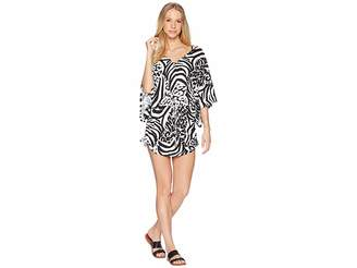 Luli Fama Cayo Setia Cabana V-Neck Dress Cover-Up Women's Swimwear
