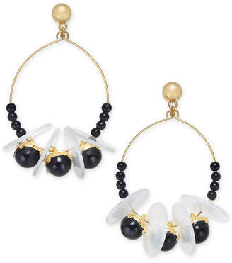 INC International Concepts I.N.C. Gold-Tone Bead, Disc & Stone Shaky Drop Earrings, Created for Macy's